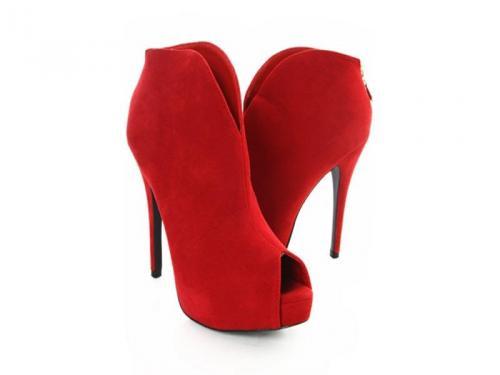 czerwone botki-polki