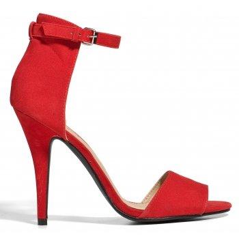 czerwone sandały-groszki