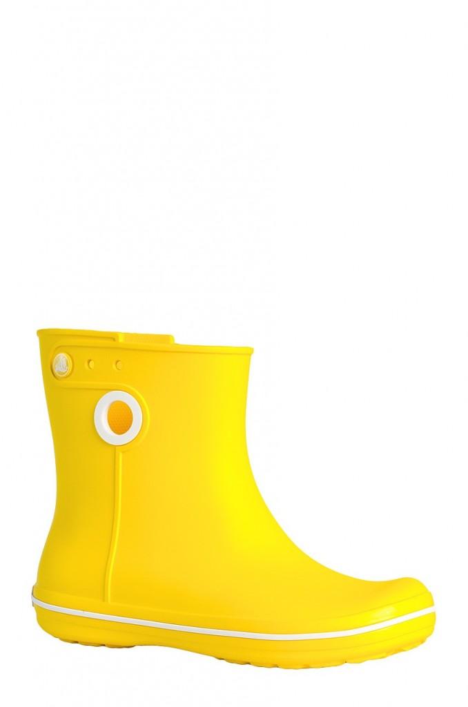 Gumaki krótkie żółte Crocs Answear