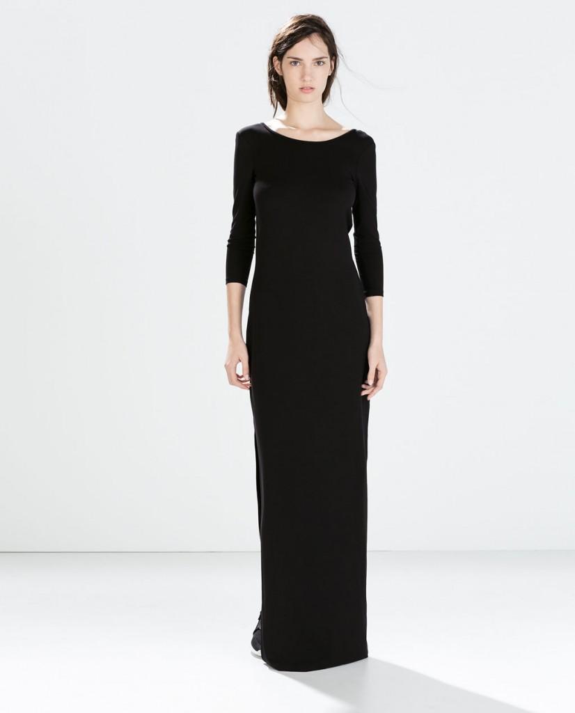 ZARA długa czarna sukienka 149,00